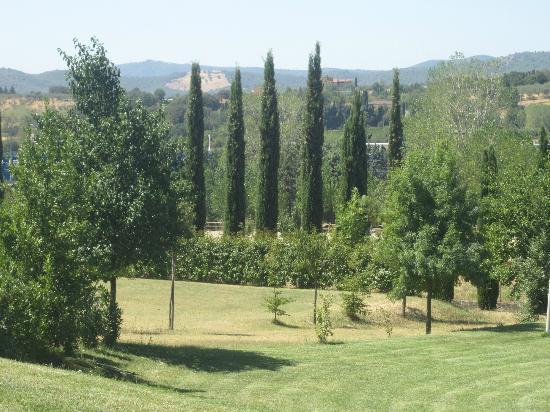 Le Gorghe di Valmarino: Uitzicht over het terrein vanaf het zwembad, een oase...