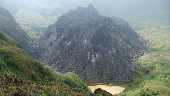Kelud Volcano : View from the staircase