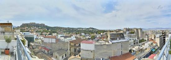 AthenStyle Hostel: View from the Rooftop (day)