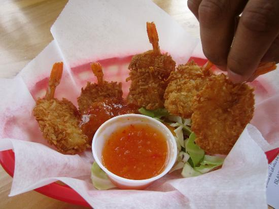 Coconut shrimp and thai chili sauce picture of coconut for Coconut s fish cafe