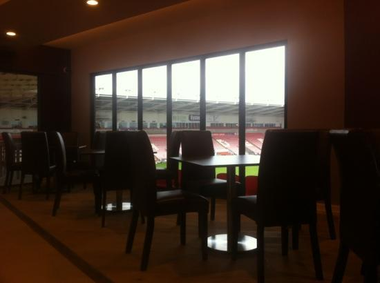 Rowley's: table with pitch view!