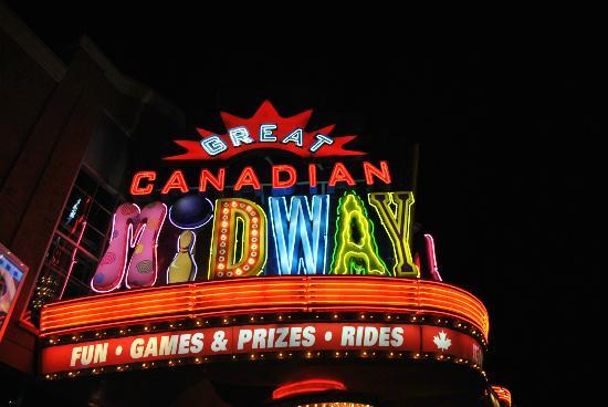 The Great Canadian Midway: Midway Sign @ Night