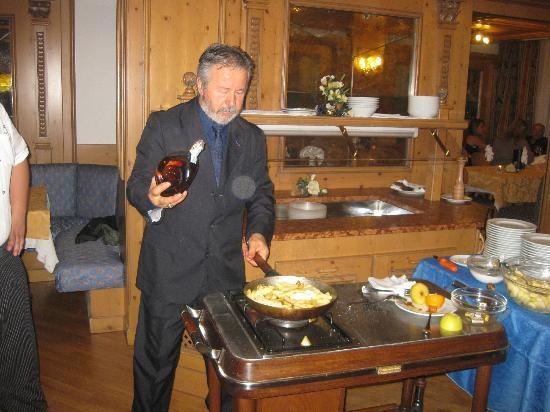Park Hotel & Club Diamant: Il Flambè del maitre Luciano