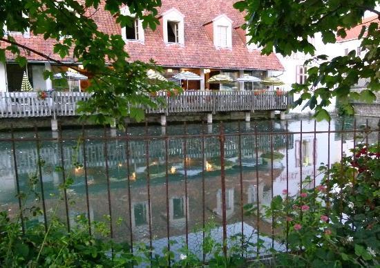 Hotel de la Plage : vue arrière sur la terrasse