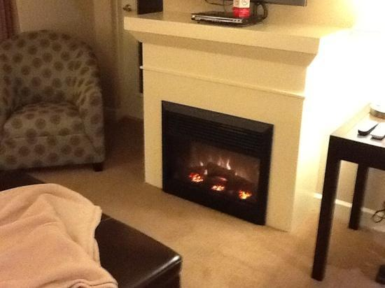 Executive Suites Hotel & Resort: fireplace