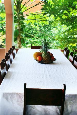 Cabinas Doña Alicia: donde se toma el desayuno