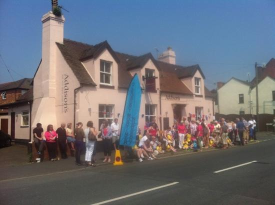 Addisons: Olympic torch in Cleobury