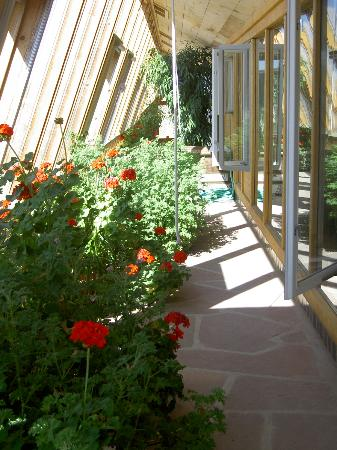 Earthship Biotecture: Walkway in front of Earthship