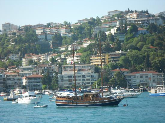 Old Istanbul ferries have wide observation decks at the stern. - Picture of B...