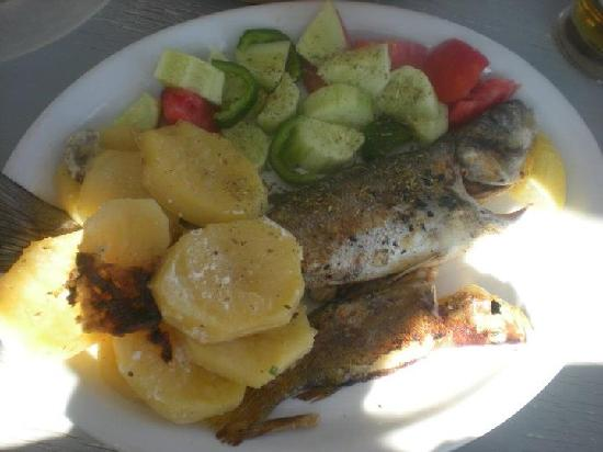 Jack's Apartments: Fresh fish at Zefyros.. was beautiful!!