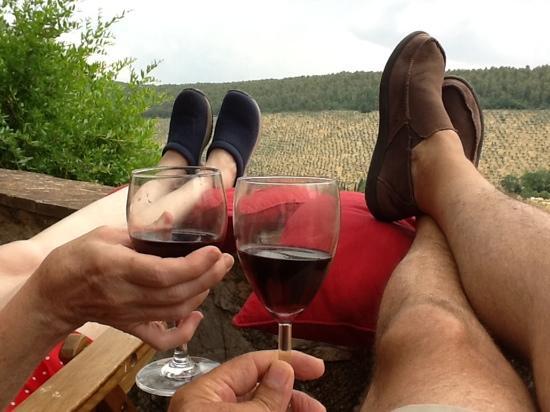 Pianciano: enjoying the Pianciano lifestyle during July 2012 