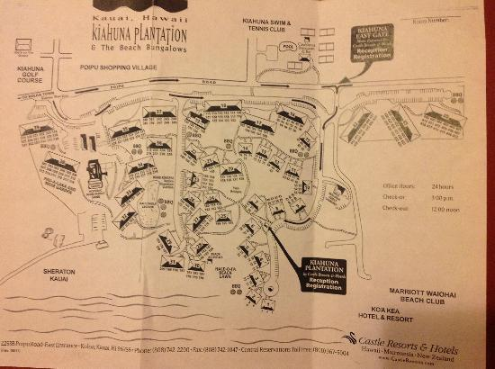Kiahuna Plantation resort map