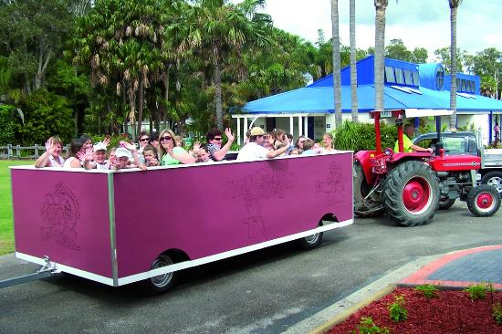 Tractor Train Rides : Tractor train ride picture of smugglers cove holiday