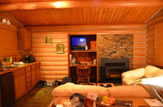 Triple Creek Ranch: luxury cabin living room
