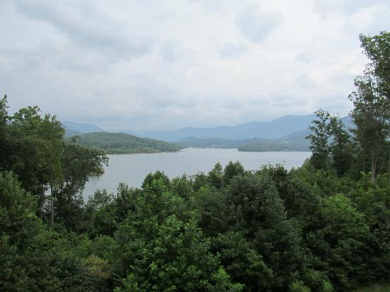 Lake Chatuge Lodge: View from my 2nd floor room balcony.