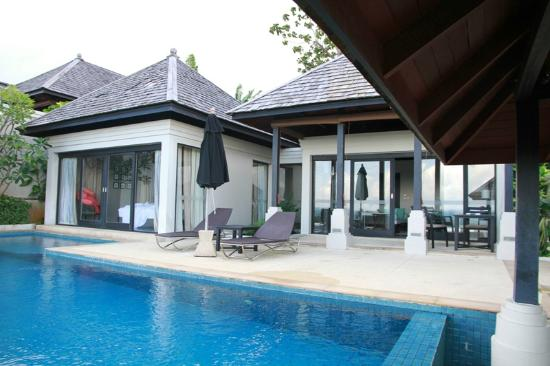 The Pavilions Phuket : looking back at the villa from the edge