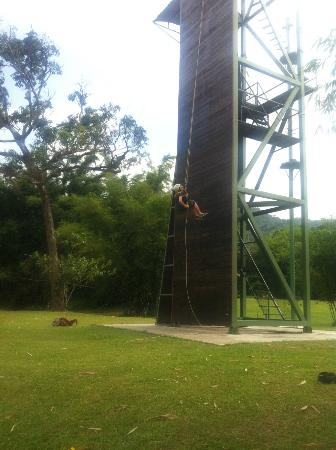 Zip Borneo: Abseiling tower! 18 metres the same as a 6 floor building!