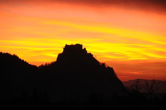 Hochosterwitz Castle (Burg Hochosterwitz): sunset
