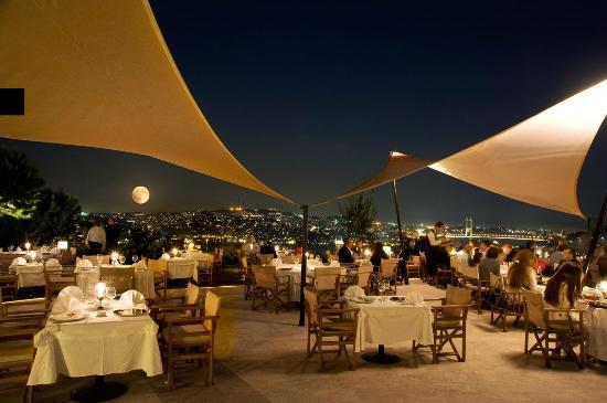 Sunset Grill & Bar: Full Moon from Sunset