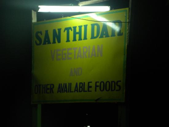 San Thi Dar Restaurant : roadsign