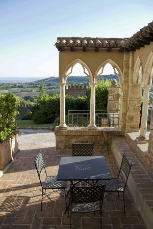 Castello di Monterone: vue depuis notre chambre