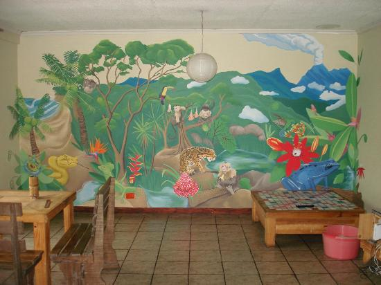 Hostel Bekuo: A mural that an artist finished while I was there the first time.