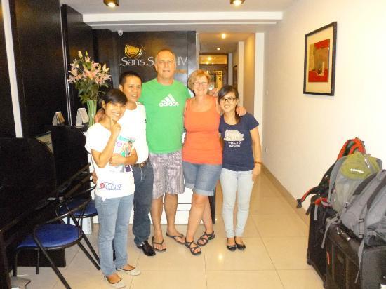 Hanoi Sans Souci IV Hotel: The Crew at Sans Souci