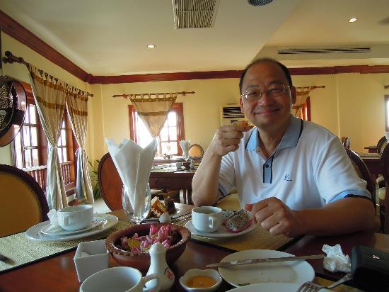 New Angkorland Hotel: 早餐還算豐盛。
