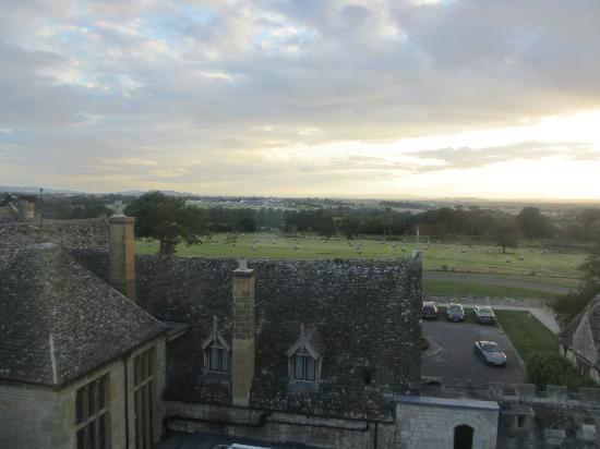 Ellenborough Park: Tower Room view [racecourse side]