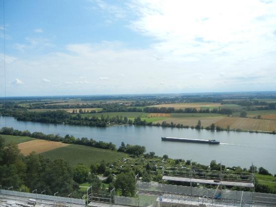 Walhalla Temple: The Danube from the Wallhalla front portico