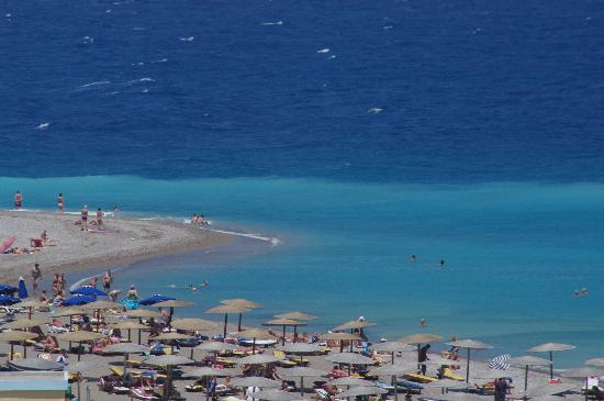 Elli Beach: Blue water