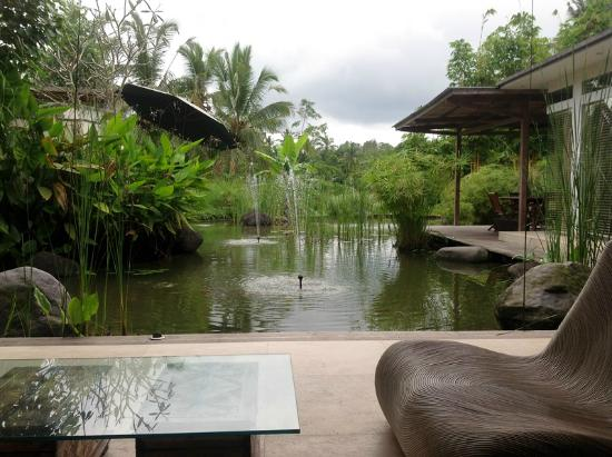 Pandawas Villas: Pond next to entertainment room