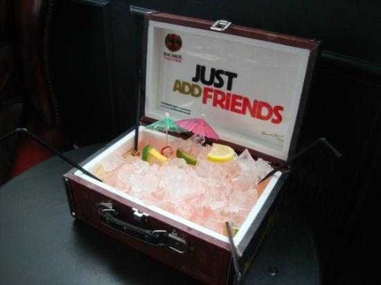 The Bowler Pub and Kitchen : Sharing Cocktails Served in Suitcase