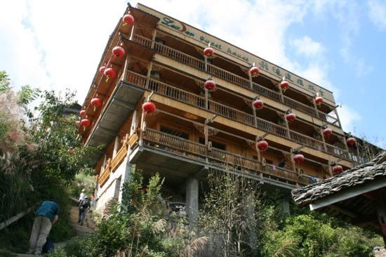 Leader Guest House Longsheng Longji: keine klassiche Hotelvorfahrt ;-)