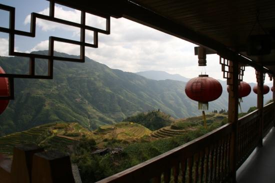 Leader Guest House Longsheng Longji: der Aussencoridor