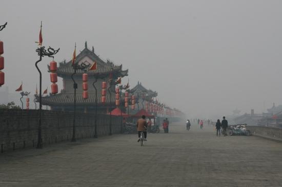 La Seine Art Hotel: Auf der Stadtmauer, die ganz Xian umschliesst!