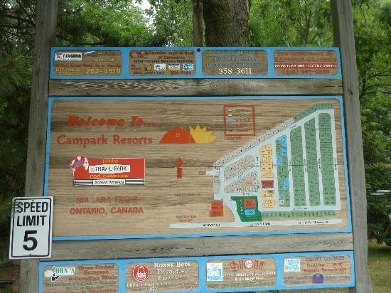 Campark Resorts: map of park