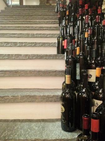 Grotto Broggini: staircase down to basement