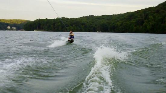 Lakeside Watersports: Joey on the edge