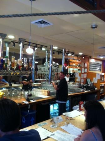 Bull City Burger and Brewery: The bar at BCB&B