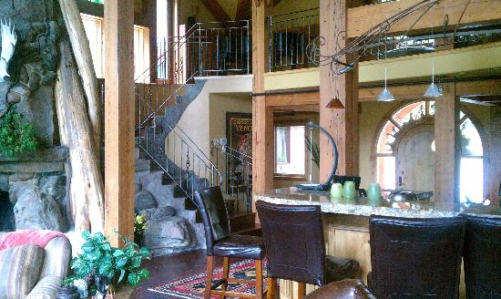 Talus Rock Retreat: Common room staircase