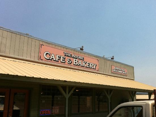 The Adobe Cafe and Bakery: The sign for the Cafe