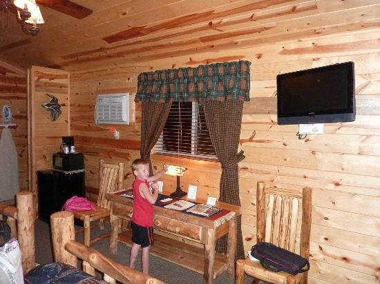 Frontier Cabins Motel: flat screen tv area
