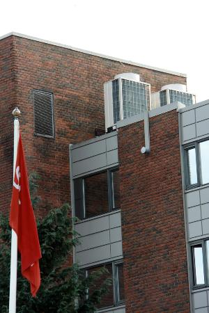 Kokstad, Norveç: Klimageräte auf Zimmerdecke