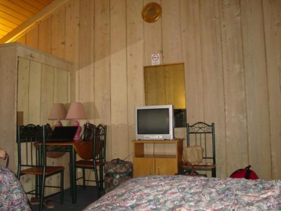 Big Pine Motel: Vaulted open beam ceilings