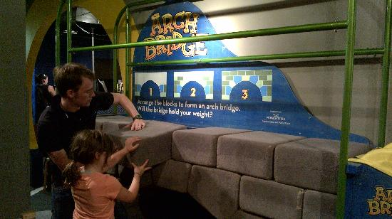 Building a bridge at the Discovery Centre.