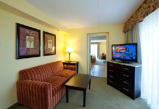 DoubleTree by Hilton Hotel Cocoa Beach Oceanfront: Oceanfront Junior Suite Parlor Renovated in 2012