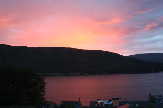 Highland Hotel : sunset from bedroom window