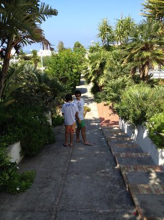 Hotel Corona- Italy Ischia: passage from street to pool