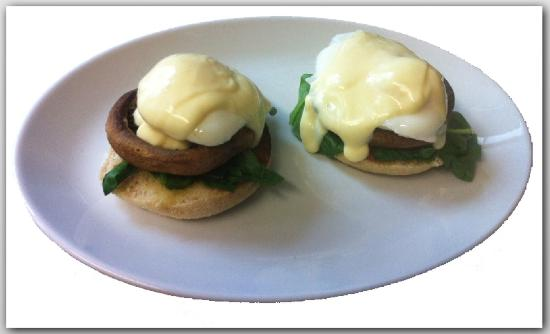 Porters Coffee House: Eggs Florentine (vegi)